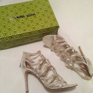 Gianni Bini Light Gold Strappy Heels
